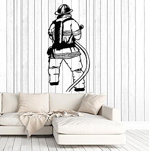 Art of Decals Vinyl Wall Decal Firefighter Fireman Fire Department Stickers Murals Large Decor 692
