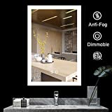BATH KNOT LED Bathroom Makeup Vanity Mirror with Lights-Wall Mounted Backlit Mirror, Vanity Lighted Mirror with ETL Certification for Whole Mirror, 48 x 36 Inch