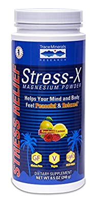 Stress-X Magnesium Powder Rasp-Lemon - 50 servings Trace Minerals 8.5 oz Powder