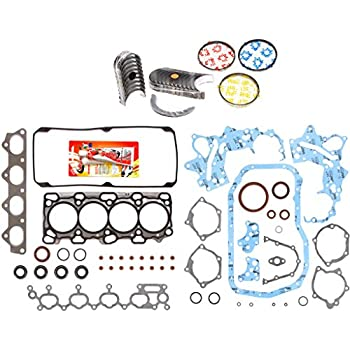 Domestic Gaskets Engine Rering Kit FSBRR5030EVE\0\0\0 Fits 99-03 Chrysler Dodge Mitsubishi 3.0 SOHC 6G72 Full Gasket Set Standard Size Main Rod Bearings Standard Size Piston Rings