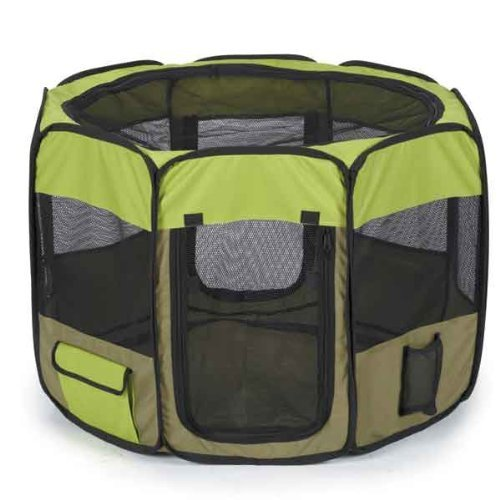 Guardian Gear Insect Shield Fabric Exercise Pen, Medium, Green