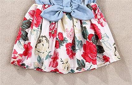 M/ädchen Tutu Denim Kleid Sleeveless Spitze Prinzessin Party R/öcke Pageant Kleider Kinder Kleidung SANFASHION Baby Babykleidung