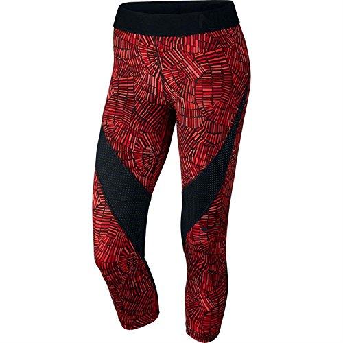 Nike Pro Hypercool Tidal Multi Capri Pants - Women's Large - University Red/Bright Crimson/White