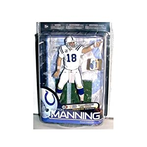 McFarlane Toys NFL Sports Picks Series 24 Action Figure Peyton Manning (Indianapolis Colts) White Jersey Bronze Collector Level Chase