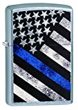 Zippo Blue Line Street Chrome Pocket Lighter