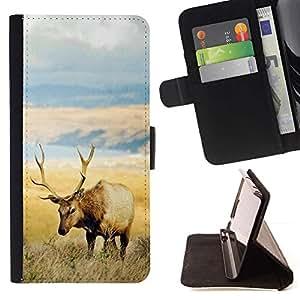 Momo Phone Case / Flip Funda de Cuero Case Cover - El campo Elk;;;;;;;; - Samsung Galaxy Note 3 III