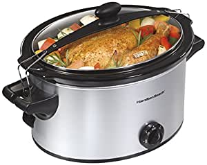 Hamilton Beach 33269 Stay or Go Slow Cooker, 5-Quart, Silver