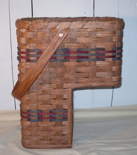 Captivating Amish Handmade Stair Step Basket (Small). This Handmade Basket Enhances Any  Country Home