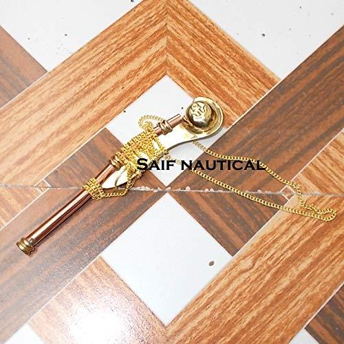 Nautical Solid Brass/Copper Boatswain (Bosun) Whistle