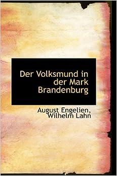 Book Der Volksmund in der Mark Brandenburg (German Edition)
