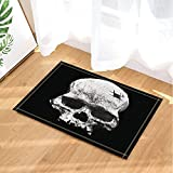 GoEoo Death Bath Rugs Pale Skull Novel Creativity Indoor Front Door Mat Kids Bath Mat 15.7x23.6in Bathroom Accessories