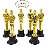Gold Award Trophies, 12 Pack 6 Inch Figure Trophy, Oscar Statues - Awards For Party Celebrations, Ceremony, Appreciation Gift, Sport, Academy Prizes, Games, School, Field Day – By Ecstatic Novelty