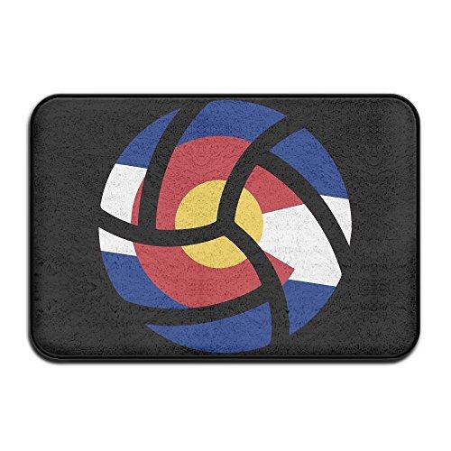 Volleyball Colorado Flag Indoor Outdoor Entrance Rug Non Slip Car Floor Mats Doormat Rugs For - Candid Volleyball