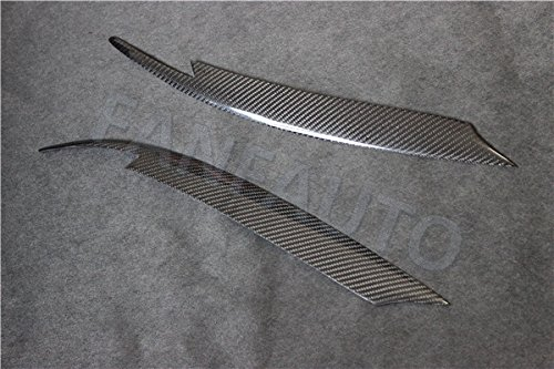 FANFAUTO Carbon Fiber Headlight Cover Eyebrows Eyelids for Subaru Impreza WRX STi X 10th 2008-2011