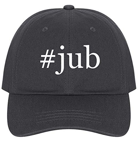 (The Town Butler #Jub - A Nice Comfortable Adjustable Hashtag Dad Hat Cap, Dark Grey, One Size)