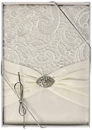 Lillian Rose Vintage Lace Guest Book - Cream GB720C