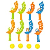 Boley 12 Piece Toss and Catch - Great Toy To Keep Kids Active and Playing Outside - 4 Sets With 4 Balls For a Great Value