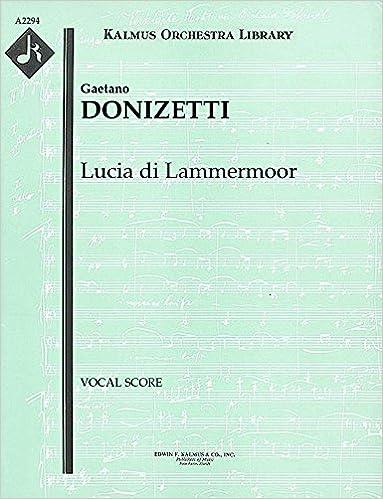lucia di lammermoor vocal score