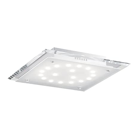 Ideal Lux Pacific PL18 Ceiling Lamp, Glass, Transparent ...