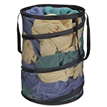 Household Essentials 2026 Pop-Up Collapsible Mesh Laundry Hamper - Black