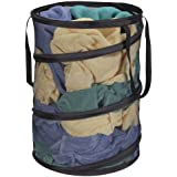 Household Essentials Pop-Up Mesh Laundry Hamper, Black