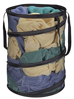 Household Essentials Pop-Up Collapsible Mesh Laundry Hamper