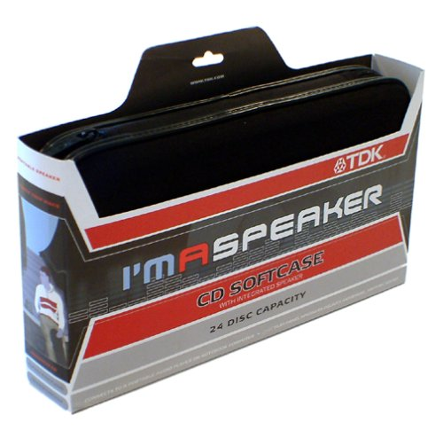 UPC 020356277000, TDK I'm A Speaker Stereo CD Softcase Holds 24 CD's PSCDSK24 (Black) (Discontinued by Manufacturer)
