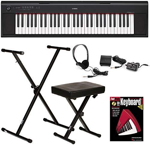 Yamaha Piaggero NP-12 Essential Keyboard Bundle by Generic
