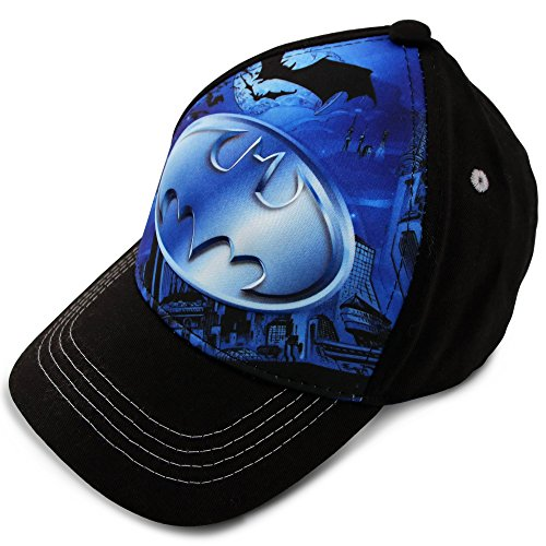 DC Comics Toddler Boys Batman Character 3D Pop Baseball Cap, Age 2-4 Black/Blue