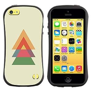LASTONE PHONE CASE / Suave Silicona Caso Carcasa de Caucho Funda para Apple Iphone 5C / Spruce Christmas Polygon Minimalist