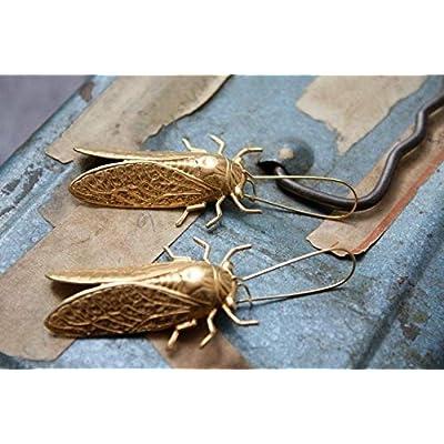 Beadlanta Cicada Metamorphosis Insect Earrings: Pet Supplies
