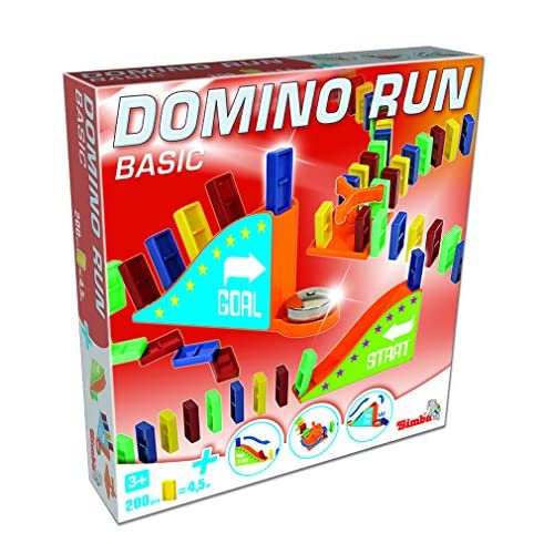 Gueydon Jouets 801885 - Jeu d'action et de Réflexe - Jeu de 200 Dominos Plastiques + 3 Escaliers sous Boite