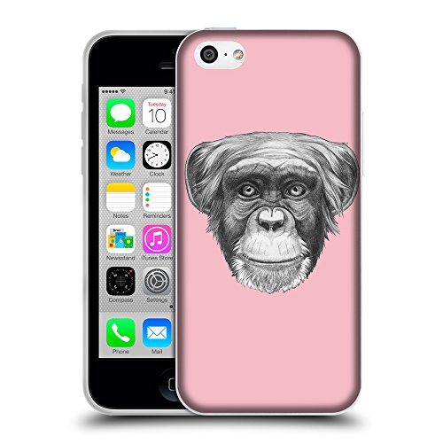 GoGoMobile Coque de Protection TPU Silicone Case pour // Q05170630 Dessin singe Rose // Apple iPhone 5C