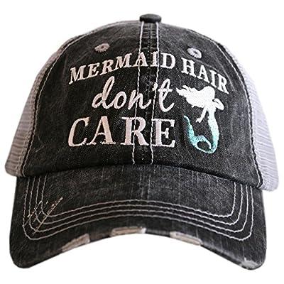 Katydid Mermaid Hair Don't Care Baseball Hats Caps by