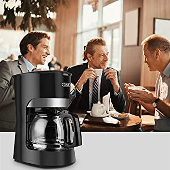 Gevi 10-Cup Coffee Maker, Switch Coffee Machine with Reusable Filter, Hot Plate and Glass Carafe