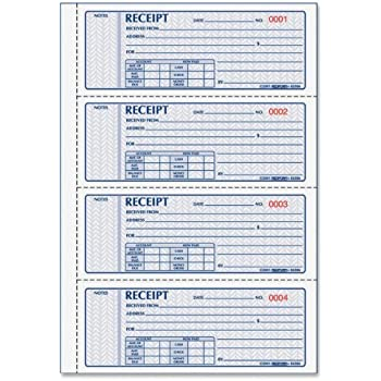 amazon com rediform money receipt bk 3 part 100 sets detached