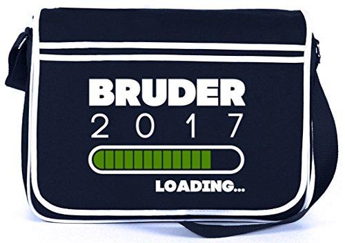 Geschenkidee Retro Messenger Bag Kuriertasche Umhängetasche mit Bruder 2017 Loading. Motiv Navy zFStUXr