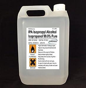 1 x 5 litre isopropyl alcohol 99 9 pure ipa isopropanol. Black Bedroom Furniture Sets. Home Design Ideas