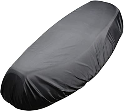 Black Size S Modengzhe Waterproof Motorcycle Seat Cover 21 x 11 inches Fit for Small-Size Motorcycle Moped Scooter Rainproof /& Dustproof