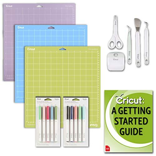 Cricut Pens, Basic Tools, Variety Pack Mats Bundle