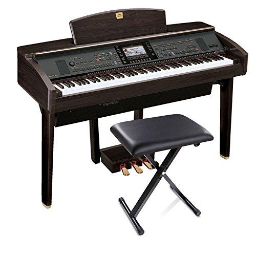 FDegage X-style Adjustable Folding Stool Chair Leather Padded Lifting Piano Keyboard Throne (Black)