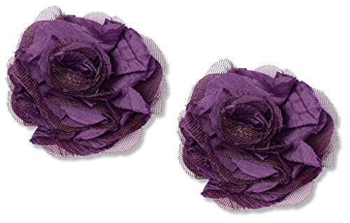 Purple Flower Shoe Clips By Absolutely Audrey Zinnia