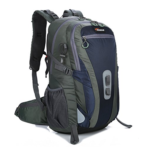 60L Durable Waterproof Hiking Backpack Packs For Travel Climbing Camping Outdoor Cycling Mountaineering (Navy blue, 60)