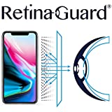 RetinaGuard Anti-UV, Anti-Blue Light Screen Protector for iPhone Xs/iPhone X - SGS & Intertek Tested - Blocks Excessive Harmful Blue Light, Reduce Eye Fatigue and Eye Strain