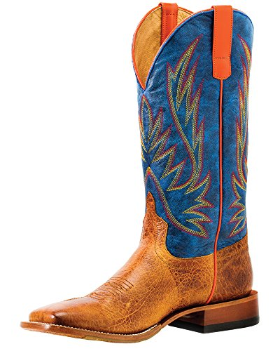 Olathe Horse Power by Anderson Bean HP1828 Havana Bullfrog Blue Jean Baby Square Toe Boots (9.5)
