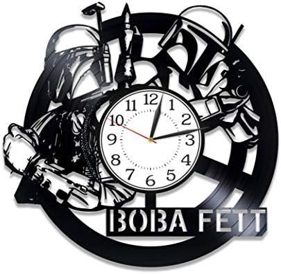Kovides Boba Fett Handmade Clock Movie Original Home Decor Star Wars Vinyl Record Wall Clock Boba Fett Wall Clock 12 Inch