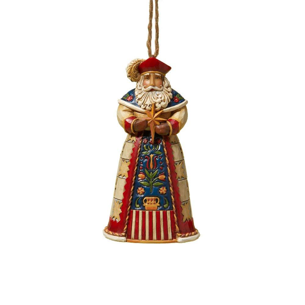 "Amazon: Jim Shore Heartwood Creek Polish Santa Stone Resin Hanging  Ornament, 45"": Home & Kitchen"
