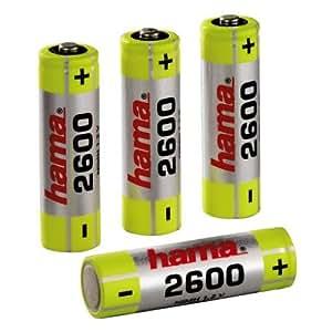 Hama NiMH Rechargeable Batteries 4x AA (Mignon - HR 6) 2600 mAh/1.2 V - Batería/Pila recargable (Nickel-Metal Hydride (NiMH))