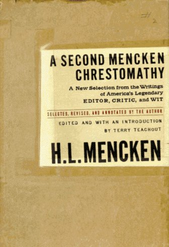 A Second Mencken Chrestomathy Hl Biscuit