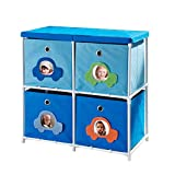 Altra Furniture Kids' 4-Bin Storage Unit, Blue